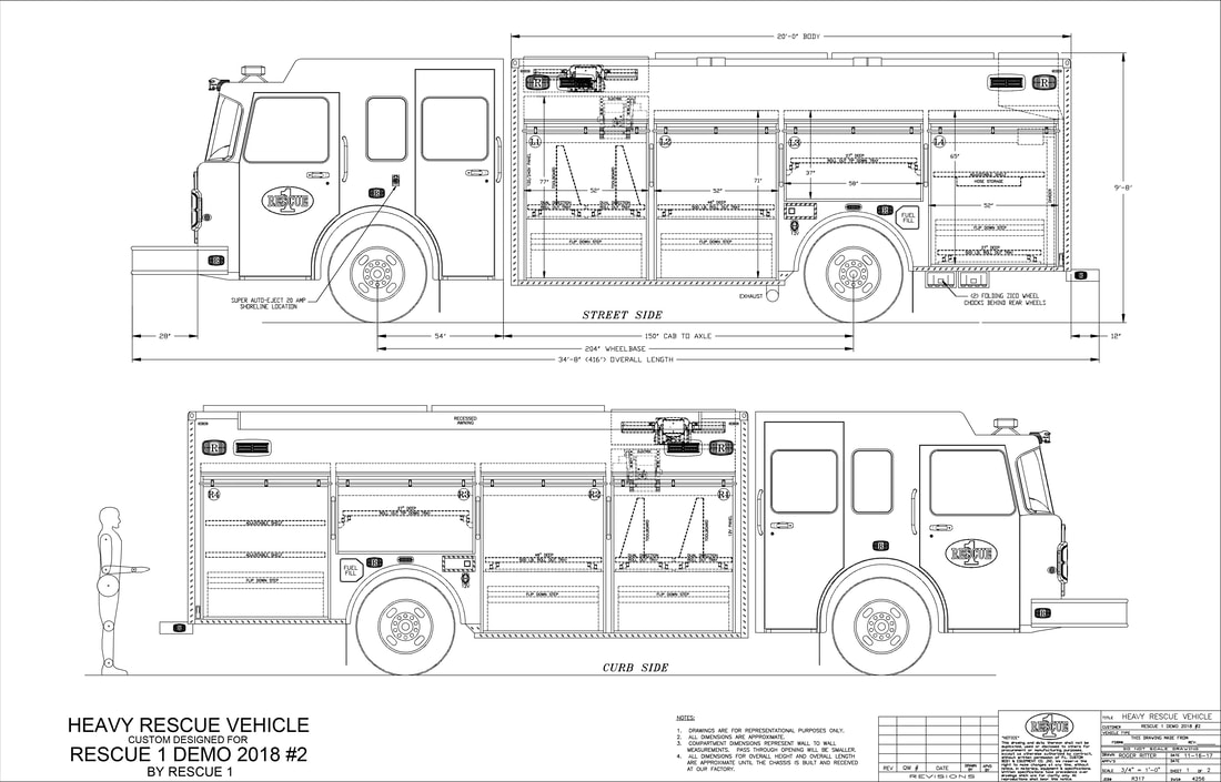 Rescue 1 Fire Rescue Demo Drawing